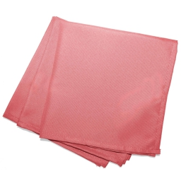Serviettes de table /3 40 x 40 cm polyester uni essentiel Corail
