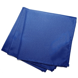 Serviettes de table /3 40 x 40 cm polyester uni essentiel Indigo