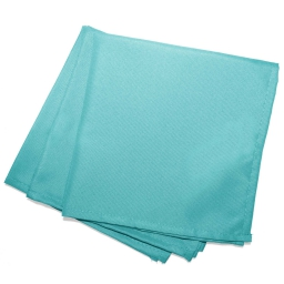 Serviettes de table /3 40 x 40 cm polyester uni essentiel Menthe