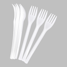 set 100 fourchettes ps 162mm blanc