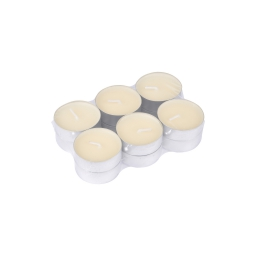 set 12 bougies chauffe plat parfum vanille