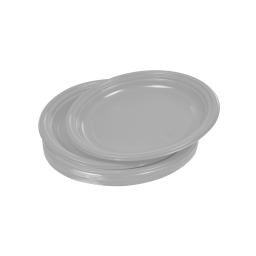 set 25 assiettes desserts ps ø17cm - gris