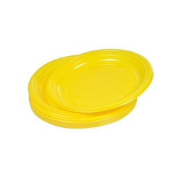 set 25 assiettes desserts ps ø17cm - jaune