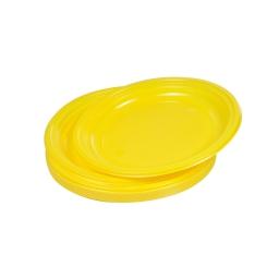 set 25 assiettes desserts ps ø17cm - jaune