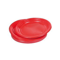 set 25 assiettes desserts ps ø17cm - rouge vermeil