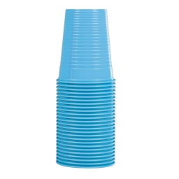 set 25 gobelets en ps 20cl - bleu caraibe
