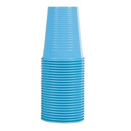set 25 gobelets en ps 20cl - bleu caraibe