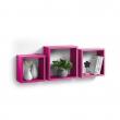 Set 3 cubes gigognes  23 x 23/26.5 x 26.5/30 x 30 cm epaisseur 1.5 cm Fuchsia, image n° 1