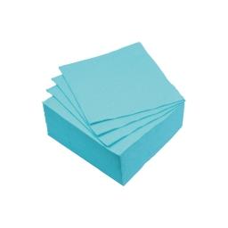 set 40 serviettes microgauffrées 2 plis 25x25cm - 17gr/m3 - bleu