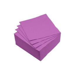set 40 serviettes microgauffrées 2 plis 25x25cm - 17gr/m3 - prune