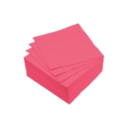 set 40 serviettes microgauffrées 2 plis 25x25cm - 17gr/m3 - rose