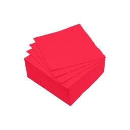 set 40 serviettes microgauffrées 2 plis 25x25cm - 17gr/m3 - rouge