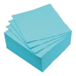 set 40 serviettes microgauffrées 2 plis 38x38cm - 17gr/m3 - bleu