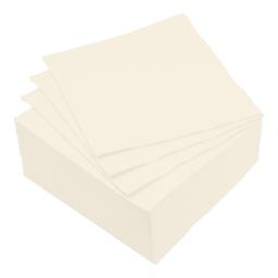 set 40 serviettes microgauffrées 2 plis 38x38cm - 17gr/m3 - creme