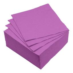 set 40 serviettes microgauffrées 2 plis 38x38cm - 17gr/m3 - prune