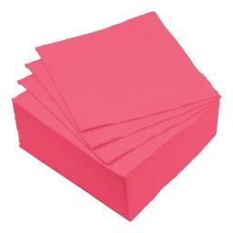 set 40 serviettes microgauffrées 2 plis 38x38cm - 17gr/m3 - rose