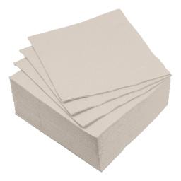set 40 serviettes microgauffrées 2 plis 38x38cm - 17gr/m3 - taupe