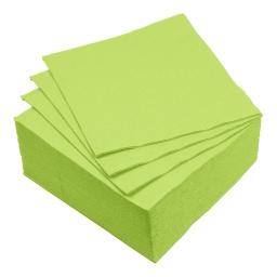 set 40 serviettes microgauffrées 2 plis 38x38cm - 17gr/m3 - vert