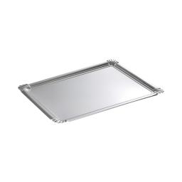 set 5 plateaux rectangles en carton - argent - 475grs/m²