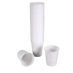 set 50 gobelets plastiques 20cl - blanc