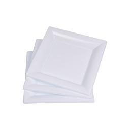 set 6 assiettes carrées ps 18cm blanc