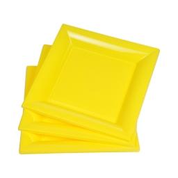 set 6 assiettes carrées ps 23cm - jaune