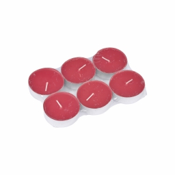 set 6 bougies maxi chauffe plat parfum fruits rouges