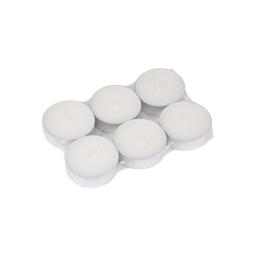 set 6 bougies maxi chauffe plat parfum jasmin
