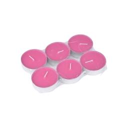 set 6 bougies maxi chauffe plat parfum rose