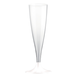 set 6 flutes a champagne en ps 14cl - blanc
