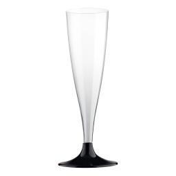 set 6 flutes a champagne en ps 14cl - noir