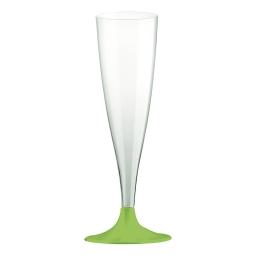 set 6 flutes a champagne en ps 14cl - vert