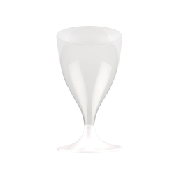 set 6 verres a pied eau/vin en ps 18cl - blanc
