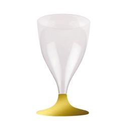 set 6 verres a pied eau/vin en ps 18cl - or