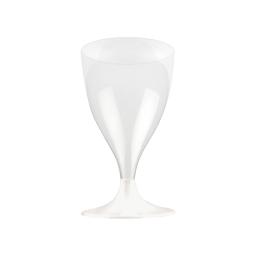set 6 verres a pied eau/vin en ps 18cl - transparent