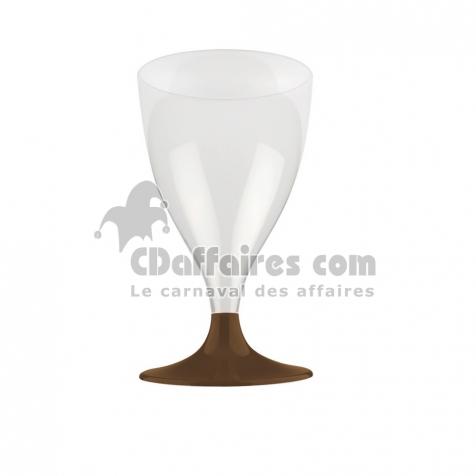Adiserve 6 Verres /à Eau Plastique r/éutilisable 20 cl Chocolat