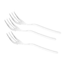 set de 12 mini fourchettes 100mm ps - transparent
