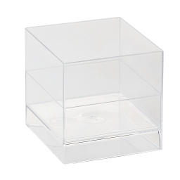 "set de 12 verrines ""cube"" 60ml ps transparent"