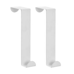 set de 2 crochets de porte metal blanc