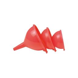 set de 3 entonnoirs : ø10cm / ø12cm / ø14cm - rouge