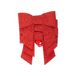 set de 3 ronds de serviette forme noeud-couleur rouge-h6x7cm
