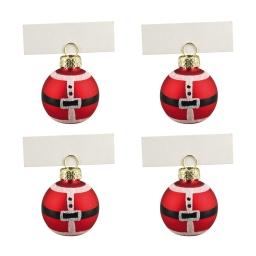 set de 4 boules porte nom decorees-verre-cap metallique-d4cm
