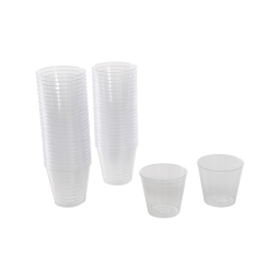 set de 50 mini verrine plastique ps transparente 30ml