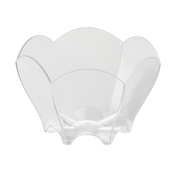 "set de 8 verrines ""tulipe"" ps 70ml transparent"