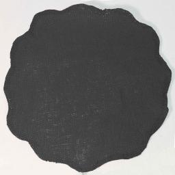 Set de table (0) 38 cm fibre papier fleur Anthracite