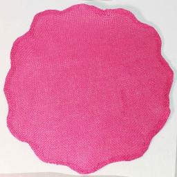 Set de table (0) 38 cm fibre papier fleur Fuchsia