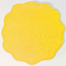 Set de table (0) 38 cm fibre papier fleur Jaune