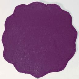 Set de table (0) 38 cm fibre papier fleur Prune