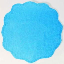 Set de table (0) 38 cm fibre papier fleur Turquoise