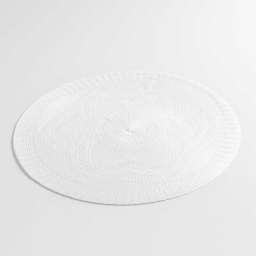 Set de table (0) 38 cm polyester uni chantelle Blanc